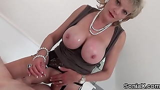 Adulterous british mature lady sonia pops in foreign lands her huge titties