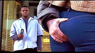 INTERRACIAL KISSING AND Exasperation GRAB (BARBERSHOP 2002)