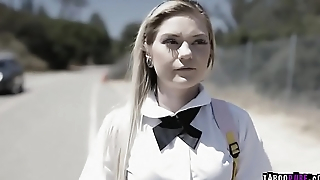 School girl Chloe got her juicy ass banged