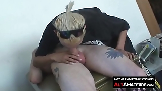 Freaky amateur forms cock sucking 69 with inked deviant