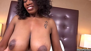 Curvy Ebony Milf Has For everyone Natural Big Black Tits in her First HD POV Fuck Film