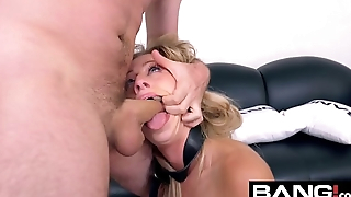 BANG Casting: Zoey Monroe DP and Double Facial Threesome