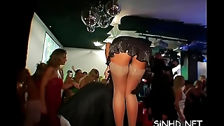 Unrestrained and wild fuckfest party with lusty hotties and hunks
