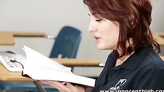 InnocentHigh Young innocent brunette student tempted to bang her randy teacher